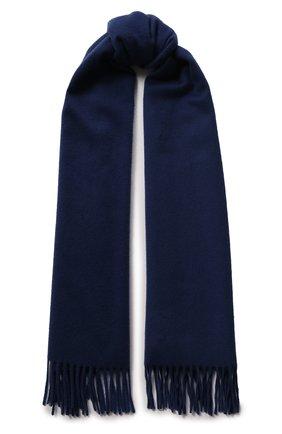 Мужской кашемировый шарф grande unita LORO PIANA синего цвета, арт. FAB9149 | Фото 1