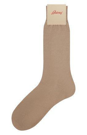 Мужские хлопковые носки BRIONI бежевого цвета, арт. 0VMC/P3Z19 | Фото 1