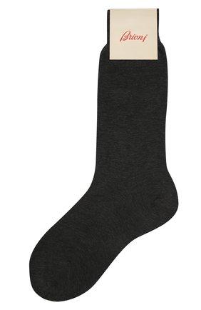 Мужские хлопковые носки BRIONI темно-серого цвета, арт. 0VMC/P3Z19 | Фото 1