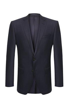 Мужской шерстяной пиджак BOSS синего цвета, арт. 50432943 | Фото 1