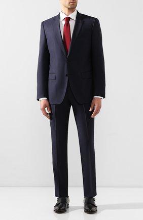 Мужской шерстяной пиджак BOSS синего цвета, арт. 50432943 | Фото 2