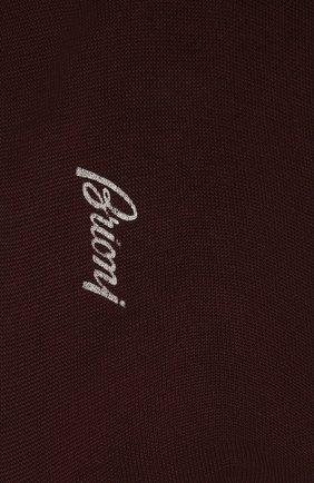 Мужские хлопковые носки BRIONI темно-коричневого цвета, арт. 0VMC/P3Z19 | Фото 2 (Материал внешний: Хлопок; Кросс-КТ: бельё)