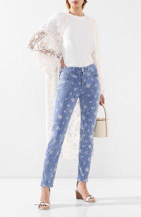 Женские джинсы POLO RALPH LAUREN голубого цвета, арт. 211789889 | Фото 2
