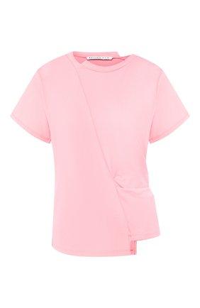 Женская хлопковая футболка REJINA PYO розового цвета, арт. C149K/C0TT0N JERSEY   Фото 1