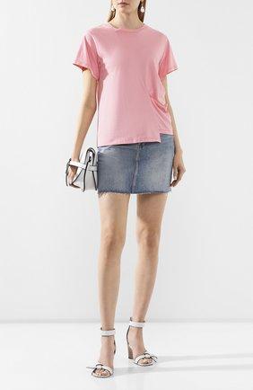 Женская хлопковая футболка REJINA PYO розового цвета, арт. C149K/C0TT0N JERSEY   Фото 2