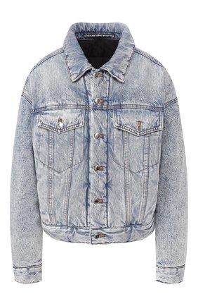 Женская джинсовая куртка DENIM X ALEXANDER WANG голубого цвета, арт. 4DC1202639 | Фото 1
