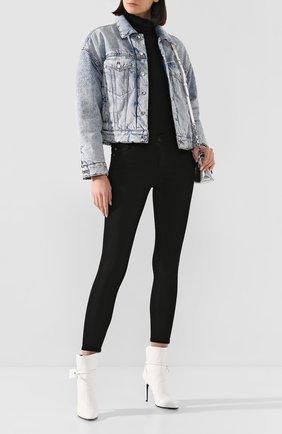 Женская джинсовая куртка DENIM X ALEXANDER WANG голубого цвета, арт. 4DC1202639 | Фото 2