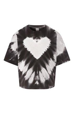 Женская хлопковая футболка ELECTRIC&ROSE черно-белого цвета, арт. LFTP14/HEARTBEAT WASH | Фото 1