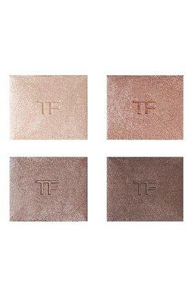 Женские тени для век eye color quad, оттенок nude dip TOM FORD бесцветного цвета, арт. T1EL-03 | Фото 2