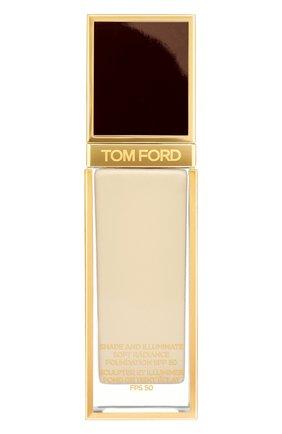 Женское тональная основа shade and illuminate spf50, оттенок 1.1 warm sand TOM FORD бесцветного цвета, арт. T73C-04 | Фото 1