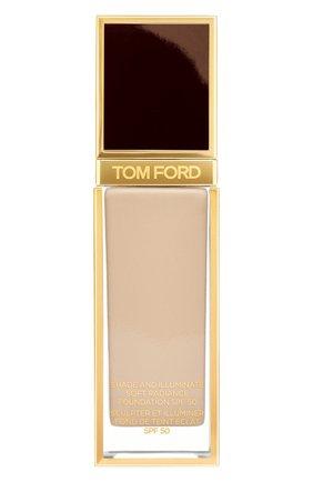 Женское тональная основа shade and illuminate spf50, оттенок 4.0 fawn TOM FORD бесцветного цвета, арт. T73C-13 | Фото 1
