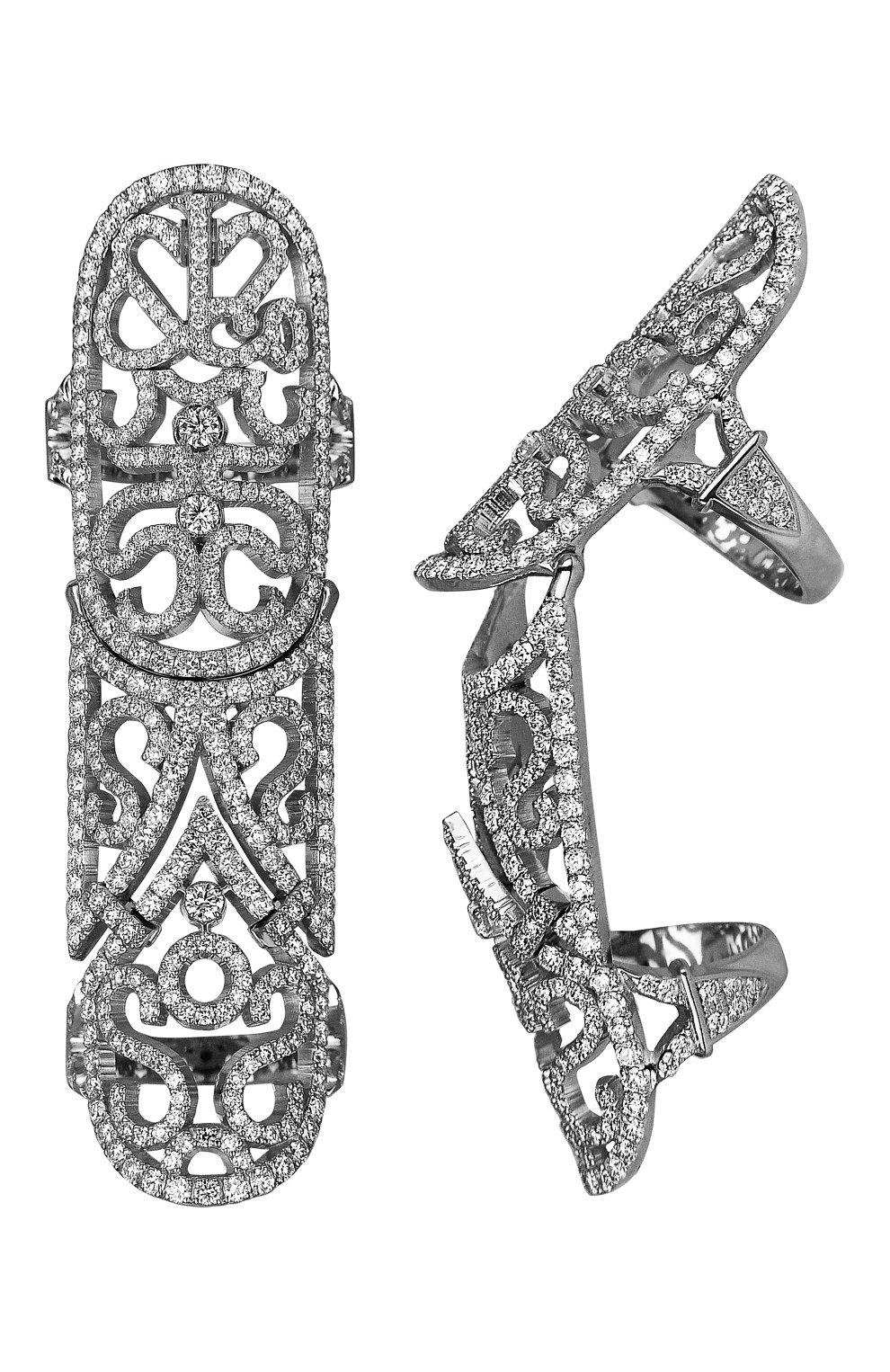Женские кольцо JACOB & CO белого золота цвета, арт. 91121291 | Фото 1