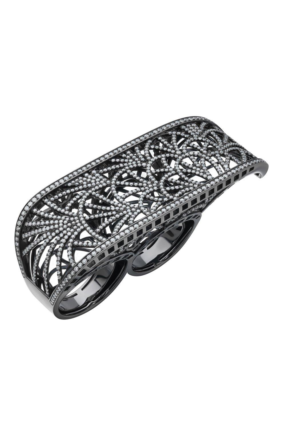 Женские кольцо на три пальца JACOB & CO черненого белого золота цвета, арт. 91328760 | Фото 1