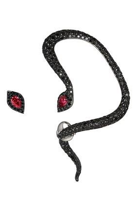 Женские серьги-гвоздики JACOB & CO бесцветного цвета, арт. 91432836   Фото 1