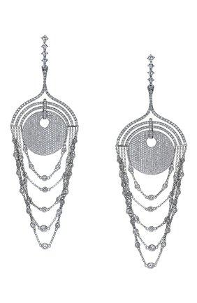 Женские серьги JACOB & CO бесцветного цвета, арт. 91841618 | Фото 1