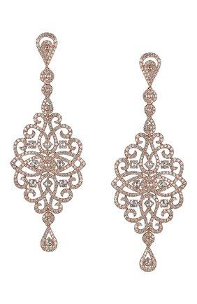 Женские серьги JACOB & CO розового золота цвета, арт. 91740042RG | Фото 1
