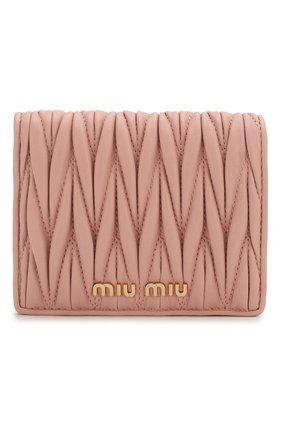 Женские кожаное портмоне MIU MIU розового цвета, арт. 5MV204-N88-F0615 | Фото 1
