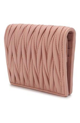 Женские кожаное портмоне MIU MIU розового цвета, арт. 5MV204-N88-F0615 | Фото 2