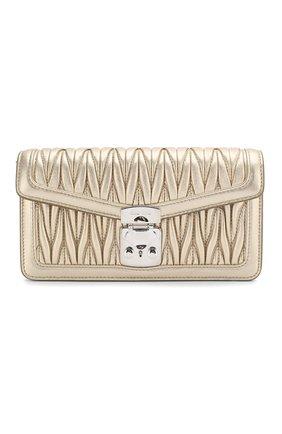 Женская сумка MIU MIU золотого цвета, арт. 5DH044-2EZV-F0PLI | Фото 1