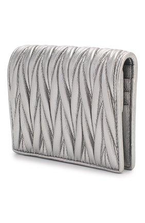 Женские кожаное портмоне MIU MIU серебряного цвета, арт. 5MV204-N88-F0135 | Фото 2
