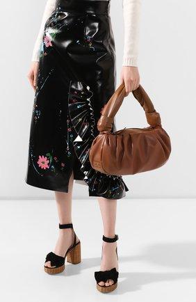 Женская сумка MIU MIU коричневого цвета, арт. 5BC064-2C9O-F0046-OOM | Фото 2