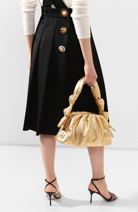 Женская сумка MIU MIU золотого цвета, арт. 5BF102-2C9O-F0522-OOO   Фото 2
