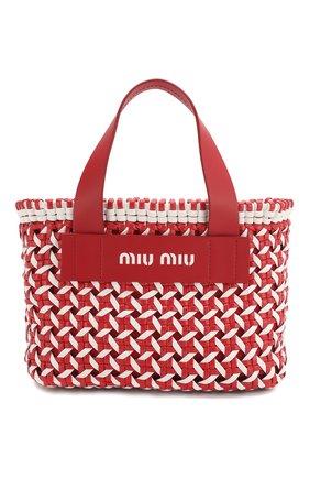 Женская сумка-шопер MIU MIU разноцветного цвета, арт. 5BA077-2D3N-F0976-OIO | Фото 1