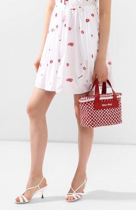 Женская сумка-шопер MIU MIU разноцветного цвета, арт. 5BA077-2D3N-F0976-OIO | Фото 2