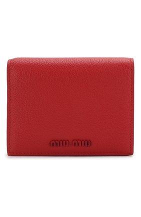 Женские кожаное портмоне MIU MIU красного цвета, арт. 5MV204-34-F068Z | Фото 1