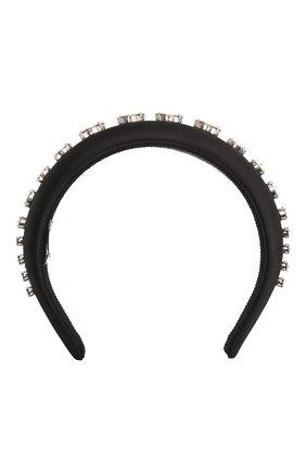 Женский ободок для волос MIU MIU черного цвета, арт. 5IH025-2BEW-F0002 | Фото 1