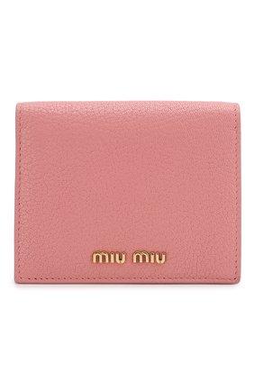 Женские кожаное портмоне MIU MIU розового цвета, арт. 5MV204-2BJI-F0387 | Фото 1