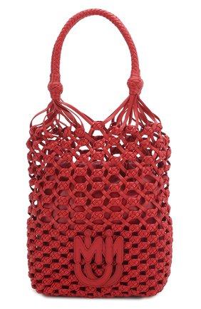 Женская сумка MIU MIU красного цвета, арт. 5BC066-2D8P-F068Z-OOO | Фото 1