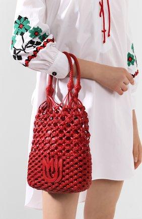 Женская сумка MIU MIU красного цвета, арт. 5BC066-2D8P-F068Z-OOO | Фото 2