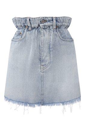 Женская джинсовая юбка MIU MIU голубого цвета, арт. GWD185-1SXP-F0013 | Фото 1