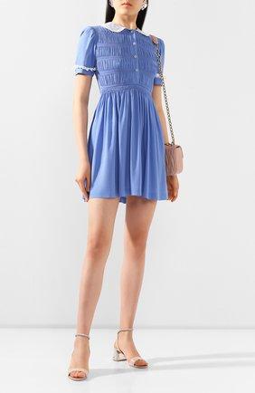 Женское платье из вискозы MIU MIU синего цвета, арт. MF3585-92U-F0237   Фото 2
