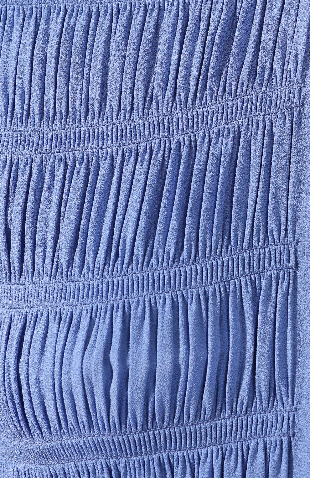 Женское платье из вискозы MIU MIU синего цвета, арт. MF3585-92U-F0237   Фото 5