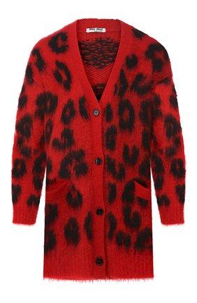 Женский кардиган MIU MIU красного цвета, арт. MMF074-1TBB-F0011 | Фото 1