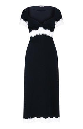 Женское платье MIU MIU черного цвета, арт. MF3597-1L30-F0G4F   Фото 1