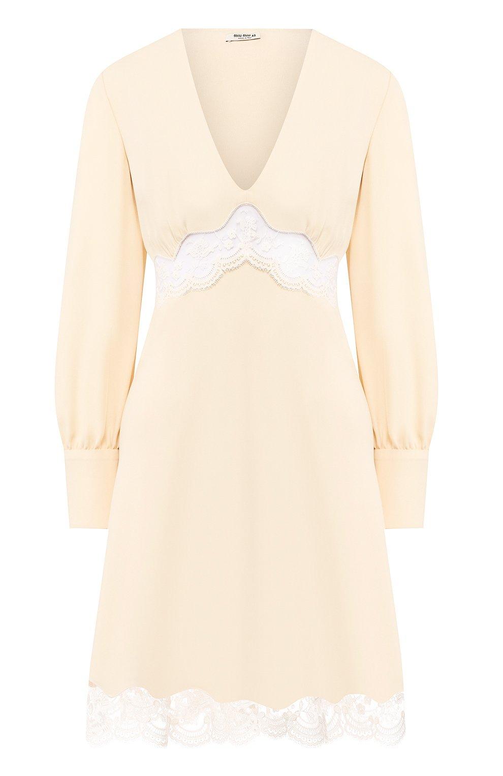 Женское платье MIU MIU кремвого цвета, арт. MF3598-1L30-F0061   Фото 1
