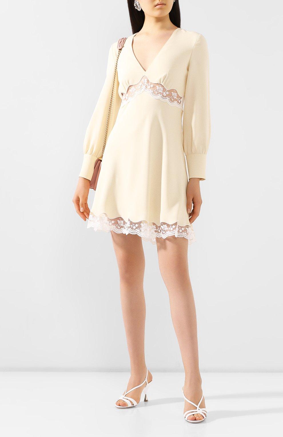 Женское платье MIU MIU кремвого цвета, арт. MF3598-1L30-F0061   Фото 2