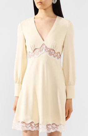 Женское платье MIU MIU кремвого цвета, арт. MF3598-1L30-F0061   Фото 3