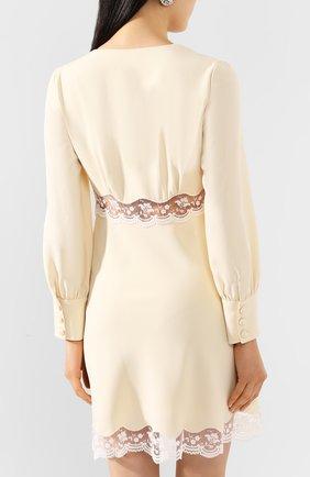 Женское платье MIU MIU кремвого цвета, арт. MF3598-1L30-F0061   Фото 4