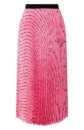 Женская плиссированная юбка MIU MIU розового цвета, арт. MG1378-1WBI-F0028 | Фото 1