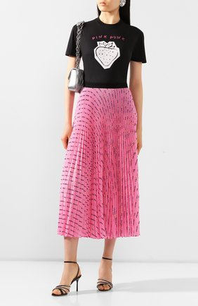 Женская плиссированная юбка MIU MIU розового цвета, арт. MG1378-1WBI-F0028 | Фото 2