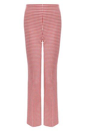 Женские шерстяные брюки MIU MIU красного цвета, арт. MP1351-1V7W-F0011 | Фото 1
