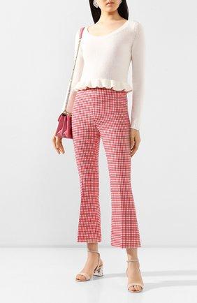 Женские шерстяные брюки MIU MIU красного цвета, арт. MP1351-1V7W-F0011 | Фото 2