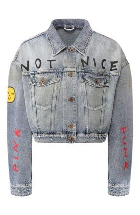Женская джинсовая куртка MIU MIU синего цвета, арт. GWB071-1WBD-F0013 | Фото 1