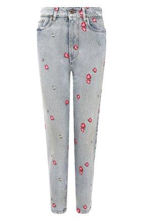 Женские джинсы MIU MIU голубого цвета, арт. GWP302-1VZP-F0013 | Фото 1