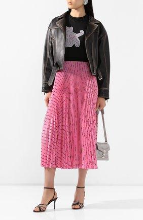 Женская кожаная куртка MIU MIU черного цвета, арт. MPV712-1RU0-F0002 | Фото 2