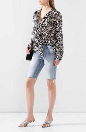 Женские кожаные мюли TOM FORD серебряного цвета, арт. W2594S-LSP003 | Фото 2 (Каблук высота: Средний; Материал внутренний: Натуральная кожа; Подошва: Плоская; Каблук тип: Шпилька)